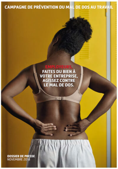 campagne de prévention du mal de dos