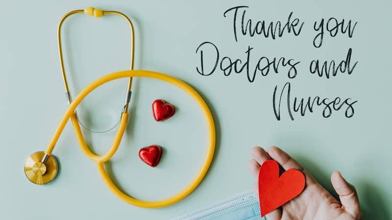 remerciements aux soignants
